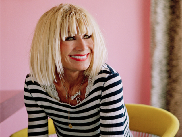 The 74-year old daughter of father (?) and mother(?), 170 cm tall Betsey Johnson in 2017 photo
