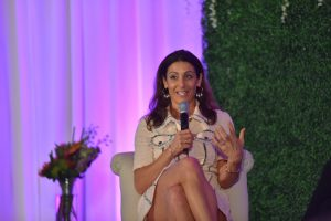 Jessica Herrin, founder and CEO of Stella & Dot, is interviewed at the recent Women in Retail Leadership Summit